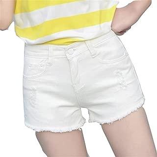 [ネストカニーナ] デニム ショート パンツ 切りっぱなし ダメージ加工 レディース ショーパン 美脚 脚長