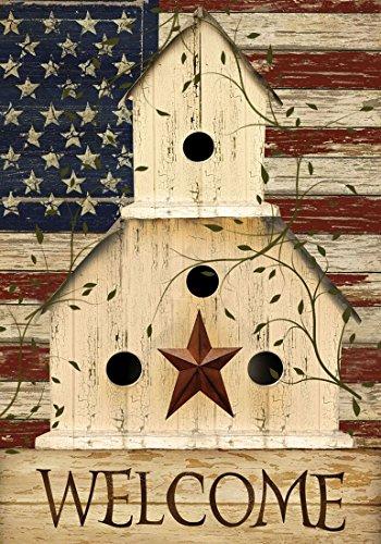 Briarwood Lane Americana Welcome House Flag Primitive Patriotic 28' x 40'