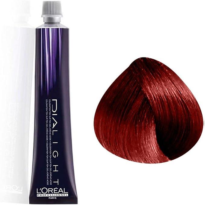 L Oréal Dialigh 6.66, Creme Acide sans Amoniaque, Rubio oscuro Carmilano rojo oscuro, 1er Pack (1 x 50 ml)