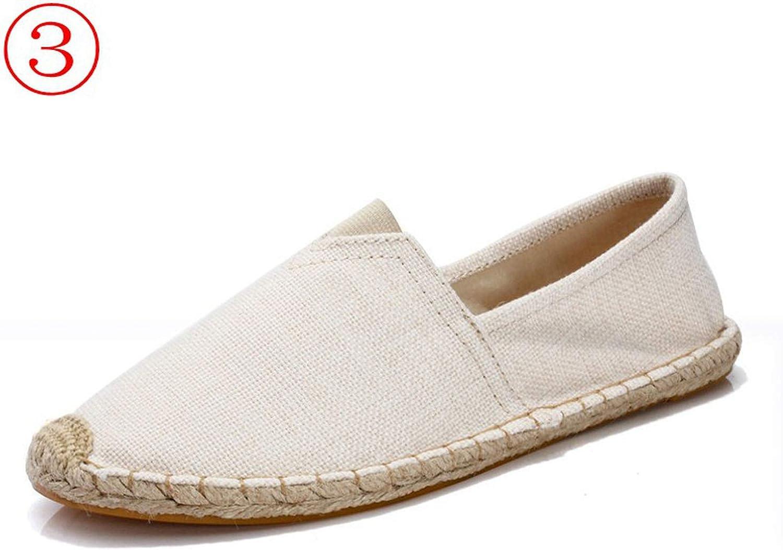 Baixa Womens Casual Espadrilles Fisherman Flats Fabric Retro Vintage Unisex Size 43 44 45 20 colors Breathable Flat shoes