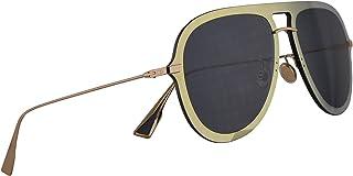 622780c91a760 Christian Dior DiorUltime1 Sunglasses Gold Blue w Blue Mirror Shaded Gold  Lens 57mm LKSA9 Diorultime