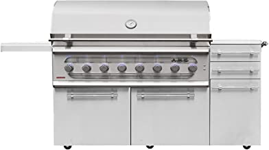 American Muscle Grill Freestanding Dual Fuel Wood/Charcoal / Gas Grill, 54-inch, Propane