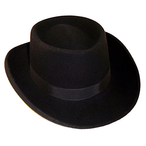 Elastic Band New Amazing Black Hat Western Faux Felt Gambler Cowboy Hat L//XL