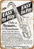 1928 Buescher Saxophones Vintage Look Metal Sign 8x12 In