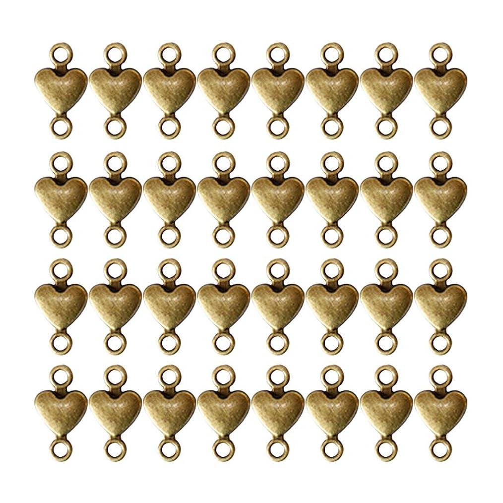 フレームワーク熟したカジュアルHealifty クラフトネックレスのブレスレットのためのアクセサリーを作るの100pcsハートペンダントチャームダブルリング合金ペンダントチャームジュエリー