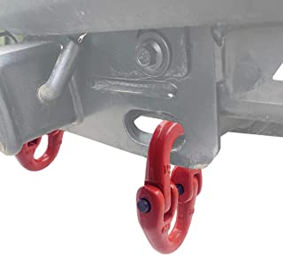 ENIXWILL 2pc 1/2 inch Tow Hitch Safety Chain Connector Link Hammer Lock Grade 80 Coupling Link Red