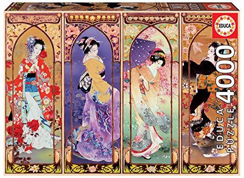 Educa Series. Collage japonés. Puzzle de 4000 Piezas. Ref. 19055, Multicolor