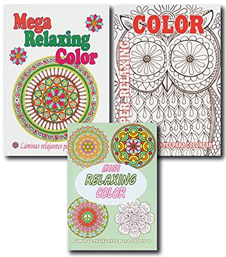 Libros de Colorear Para Adultos de Mandalas. Manualidades para Adultos. Relájate Coloreando con este Pasatiempo Antiestrés que Fomenta la Creatividad con más de 200 Dibujos para Pintar
