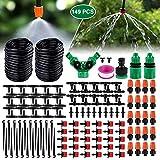 Emooqi Bewässerung Kit, Tropfbewässerung 149 Pcs Garten Bewässerungssystem DIY Micro-Drip-System Automatische Sprinkler Tröpfchenbewässerung Gartenbewässerung...