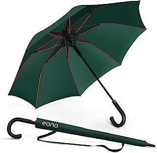[Amazonブランド] Eono(イオーノ) 傘 長傘 メンズ レディース ワンタッチ開き 丈夫 撥水 耐風 Teflon加工 210T高強度グラスファイバー 軽量 大型 130cm 梅雨対策 晴雨兼用 収納ポーチ付き