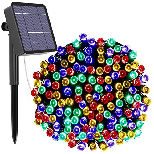 kolpop Solar Christmas Lights, 78.7Ft 240LED Solar String Lights Outdoor Waterproof with 8 Modes Fairy Lights for Indoor Outdoor Christmas Tree Decoration Patio Yard Wedding Party (Multicolor)