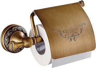 Weare Home Porte Papier Toilette Set d'Accessoires de Salle de bain Antique Rétro Laiton Vague d'or Porte Rouleau Papier F...
