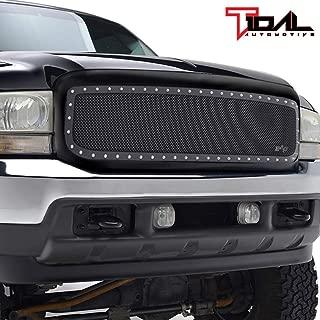 Tidal Rivet Black Steel Mesh Replacement Grille Fit 99-04 Ford Super Duty F250 F350 F450 F550