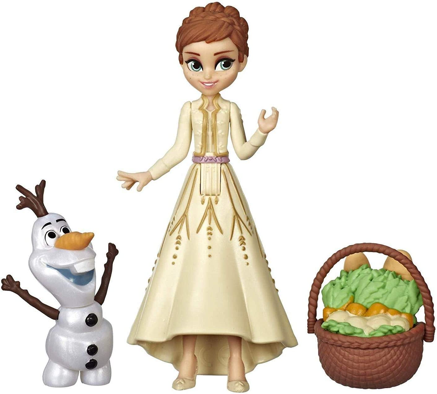 Disney Frozen Anna & Olaf Small Dolls with Basket Accessory, Inspired by The Frozen 2 Movie