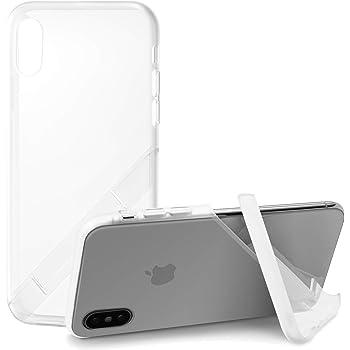 カンピーノ campino スマホケース iPhone XS ケース iPhone X ケース 対応 クリアケース OLE stand スタンド機能 耐衝撃 スリム 薄型 動画 Qi ワイヤレス充電対応 クリア 透明