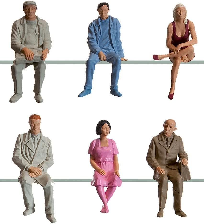 Pola 331950 Sitting quality assurance Passengers III 6 Figure Scale Set G Complete Free Shipping