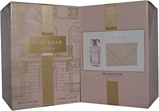 Elie Saab Le Parfum Rose Couture Elie Saab for Women 2 Pieces Gift Set (1.6 Oz Eau De Toilette/Mini pouch)