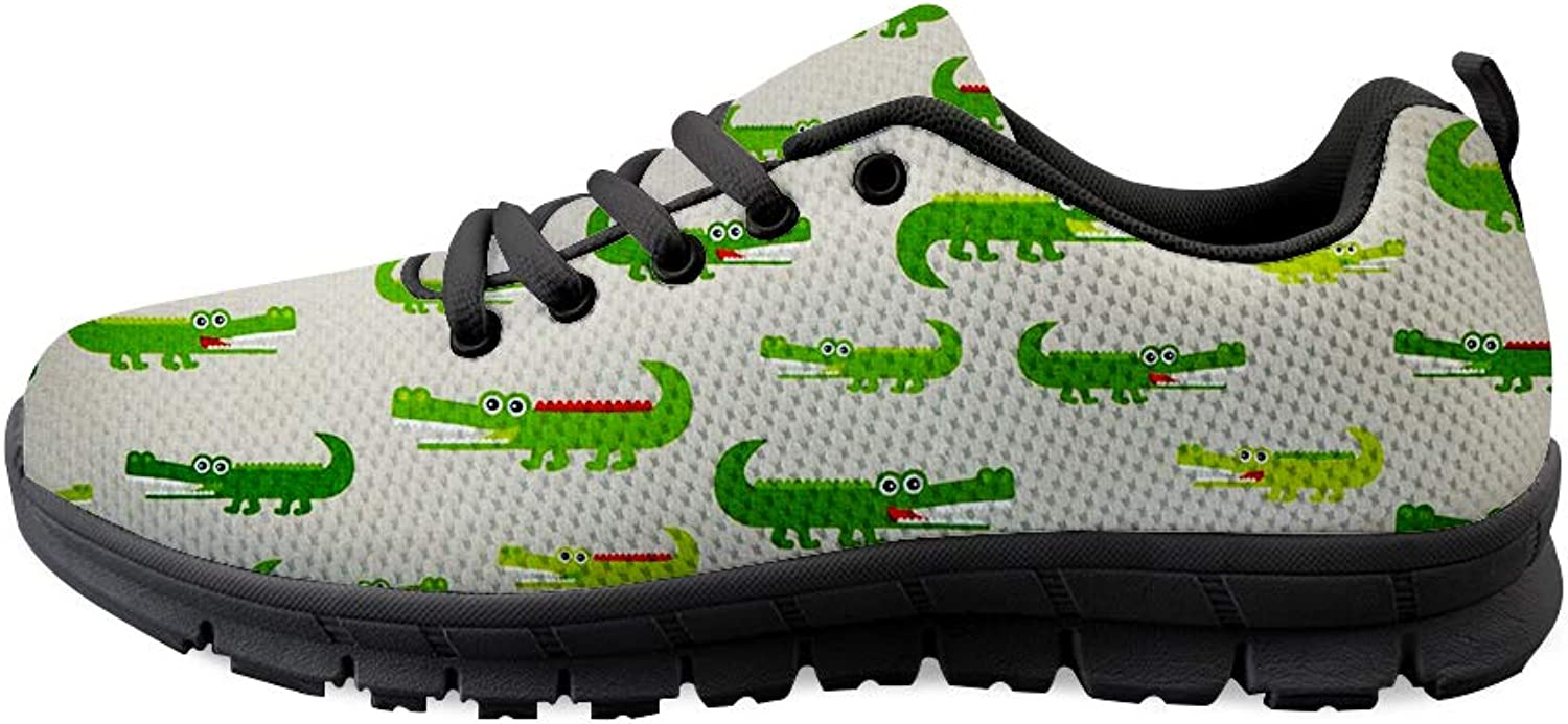 Owaheson Lace-up Sneaker Training shoes Mens Womens American Alligator Crocodile