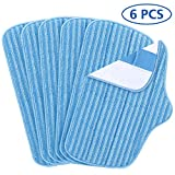 LINNIW 6 Pack Replacement Microfiber Mop Pads Compatible McCulloch MC1275 and Steamfast SF-275/SF-370