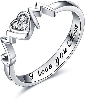 خواتم YFN Mom 925 من الفضة الاسترلينية للأم خواتم مجوهرات للنساء هدايا للأم