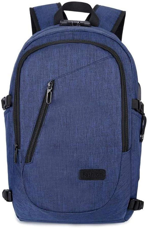 GONGFF Zaino da Viaggio Multi-Tasca da Uomo 'S Backpack Anti-Theft USB Riautoica da Uomo' S Pen Backpack Leisure
