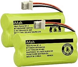 iMah Ryme B1-2 BT166342 BT266342 BT183342 BT283342 Cordless Phone Batteries Compatible with Vtech CS6114 CS6429 CS6719-2 AT&T EL52100 EL51203 Handset Telephone (Pack of 2)