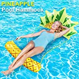 Camlinbo Adult Swimming Pool Float Water Hammock Lounger, Multi Purpose Comfortable Inflatable Water Float Pool Lounge, Pineapple Strawberry Swiming Pool Float Hammock
