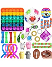 Fidget Toys Set, Relieves Stress and Anxiety Fidget Toy for Children Adults, Special Toys Assortment for Birthday Party Favors, Classroom Rewards Prizes, Carnival. (C - 26 Pack)