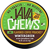Java Chews, Premium Flavored Coffee Pouches, No Tobacco, No Nicotine Smokeless Alternative, Wintergreen (5 Cans)