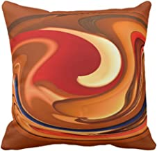 Emvency Throw Pillow Cover Accent Funky Abstract Burnt Orange Fall Decorative Pillow Case Home Decor Square 20 x 20 Inch Pillowcase