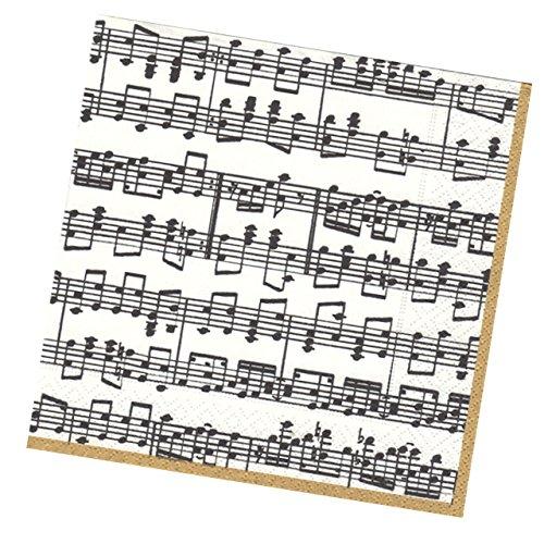 mugesh Servietten mit Notenlinien - Schönes Geschenk für Musiker