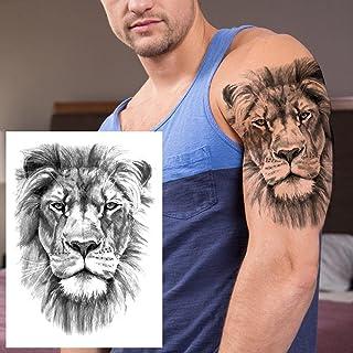 Uil Bos Tijdelijke Tattoo Man Vrouw Vrouwen Kinderen Leeuw Monster Tattoo Kompas Sticker Zwart Water Transfer Tattoo Voor ...
