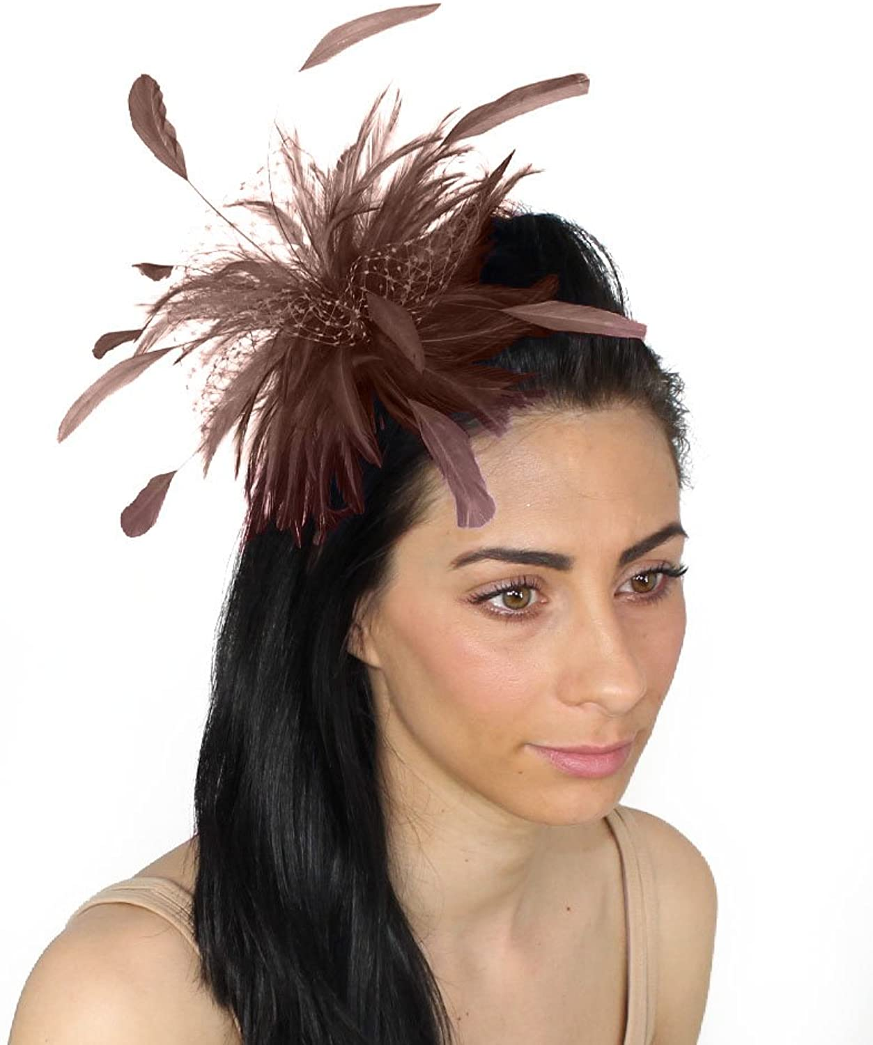 Chocolate Cleo Fascinator Hat for Ascot, Kentucky Derby & Weddings