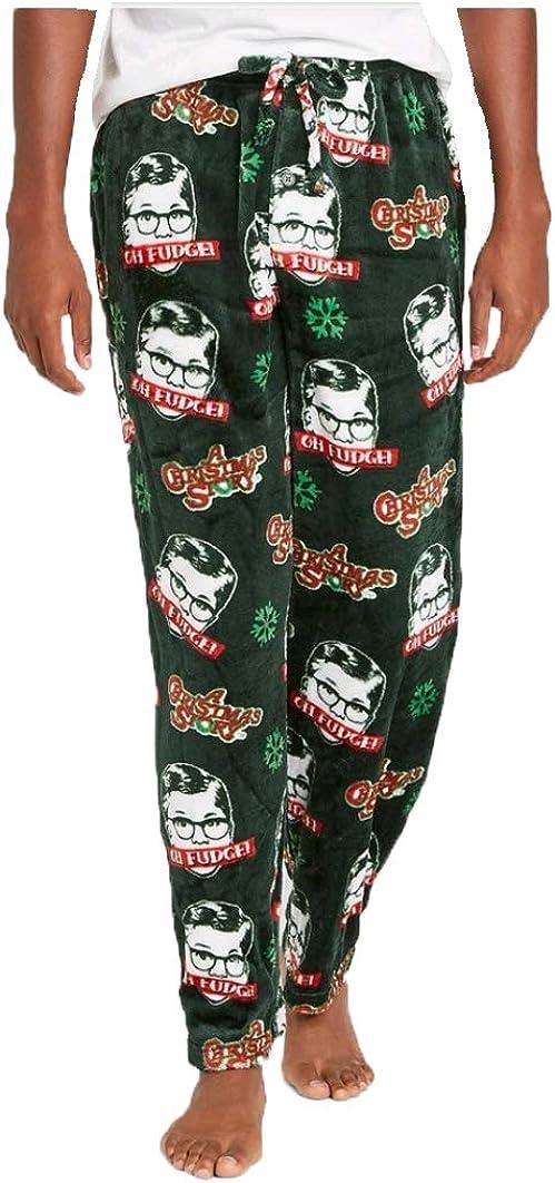 Briefly Stated A Christmas Story Green Fleece Lounge Sleep Pants
