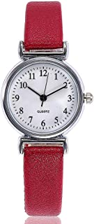 Hessimy Womens Fashion Watches New Ladies Business Bracelet Classic Watch Unisex Sport Casual Simple Leather Band Retro Digital Analog Quartz Wrist Watches for Women On Sale