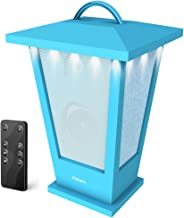 Portable Bluetooth Speakers Waterproof – Pohopa Lantern Indoor Outdoor Wireless Speaker with Lights, 10W Surround Bass, 20 Piece LED Lights, Support Remote Control (Blue)