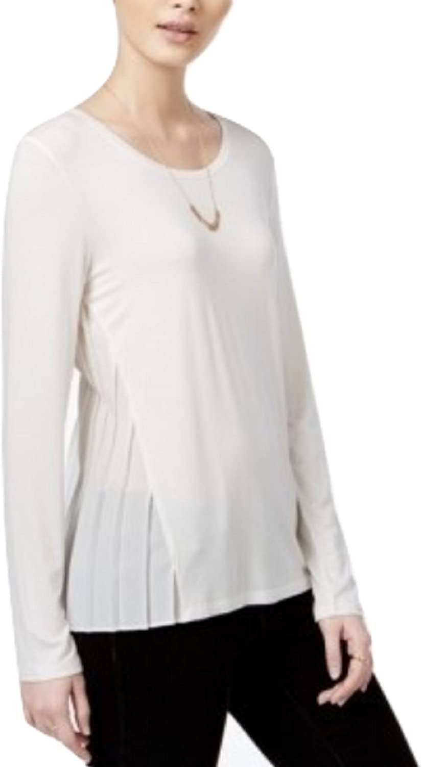 Maison Jules Pleated Contrast Top