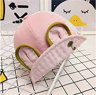 Baby Decoration Hat Baby Rabbit Ear Sun Protection Hat Sun Visor Toddler Breathable Mesh Hat for 3-36 Months(Black) Cute Cap (Color : Pink, Size : 46-50cm)