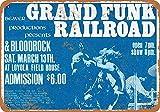 Grand Funk Railroad Metal Plaque Tin Wall Sign Retro Iron Painting Warning Wall Poster for Cafe Pub Bar Gaming Room Wedding GiftMetal tin sign Placa Metal 20x30cm A703