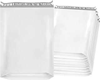 Amiff Gusseted Poly mailers 20x24x4 Shipping bags 20 x 24 x 4. Pack of 50 White Large envelopes. 2.4 mil thick mailing bags. Peel & Seal. Waterproof, Lightweight. Wrapping, Packing, Packaging.