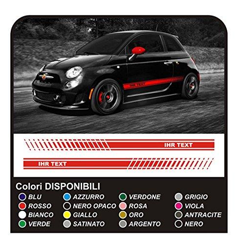 GRAFIC Aufkleber fur Auto Seitenstreifen Seitenaufkleber (ROT)