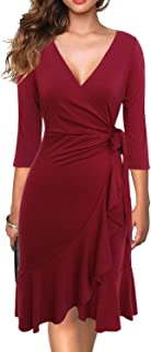 Best red lace belted dress Reviews