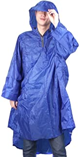 Bluefield Waterproof Backpack cover one-piece poncho raincoat, One Size, Dark Blue