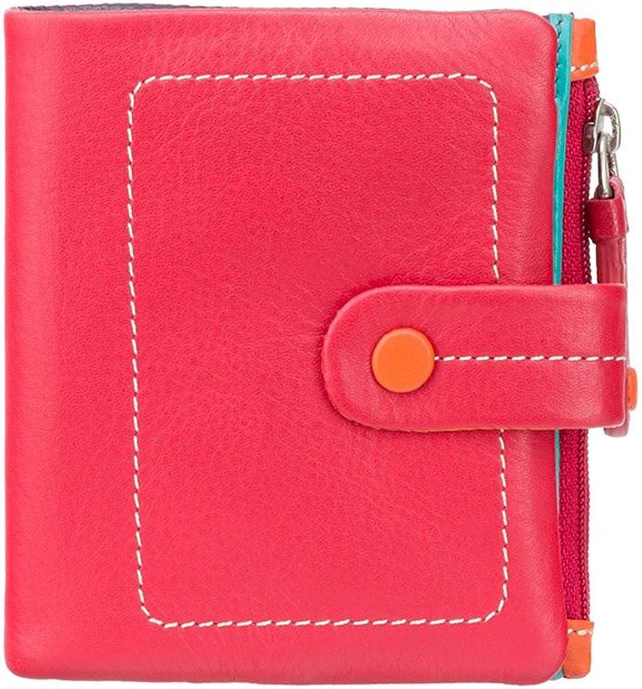 Visconti ®, porta carte di cretido, portafoglio donna, in vera pelle  multicolore
