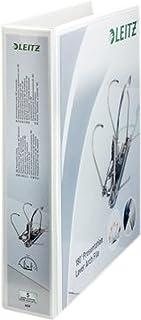 Leitz Classeur à Levier Personnalisable, Couverture Plastique, A4, Dos 8,0cm, Blanc, 42250001