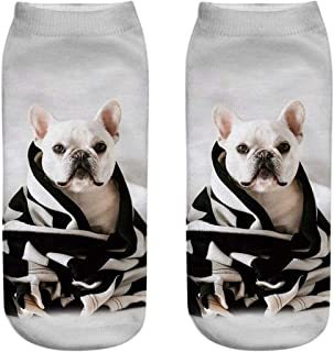 Hehh Tuoba Fish Calcetines, Calcetines Impresos 3D de la Serie del Perro, Calcetines Personalizados, 6 Pares,I