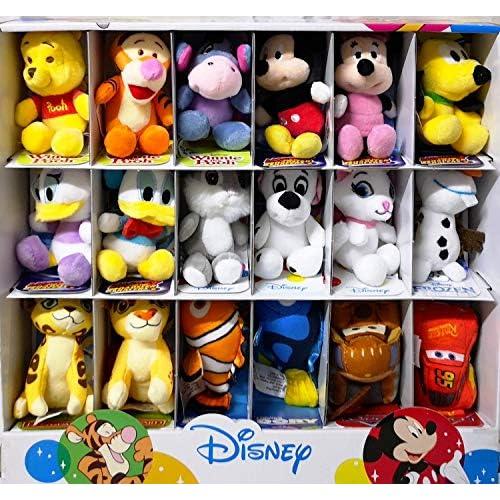 CARTOON WORLD Peluche Walt Disney da Collezione - 18 Peluche Assortiti - 10 cm