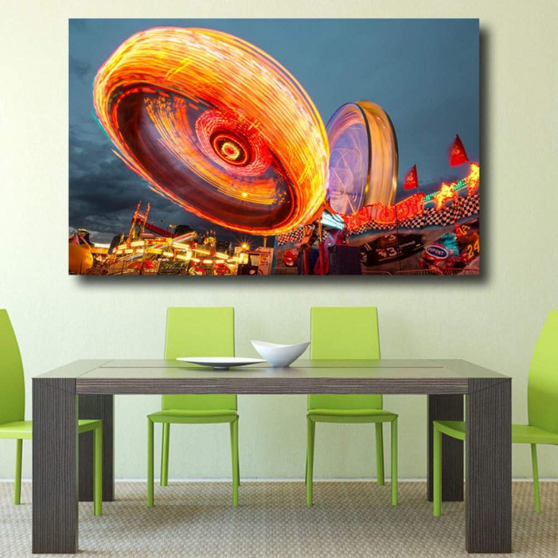 Decoración del hogar Fresco Exposición Larga Landsape Pintura al óleo Cartel de la Lona en la Parojo Paisaje Arte Pop Fotos de Fotos 40x50cm Marco