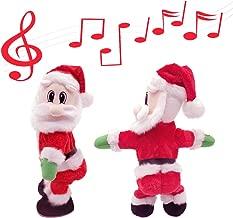 Yansanido Twerking Santa Claus-[English Song] Twisted Hip,Singing and Dancing Electric Toy, Twisted Hip Santa Claus Figure Christmas Xmas Gift for Kids (Christmas Santa Claus-English Song)