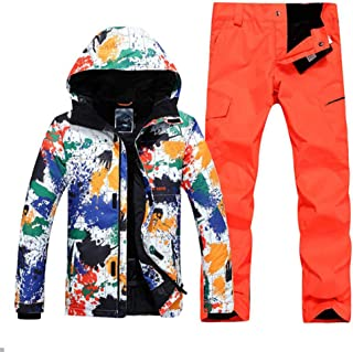 Male Ski Suit Winter Windproof Waterproof Warm Thick Breathable Ski Jacket Ski Trousers Size XS-XL